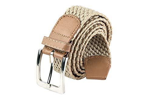 HW 1 Stretchgürtel Beige 110 cm lang und 3,5 breit,elastisch geflochtener dehnbarer Stretchgürtel !