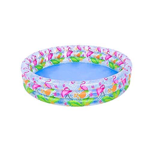 WJTMY Portátil Anillo de Tres Playa al Aire Libre inflables del Bañera niños Piscina Circular con Piscina Anillo Océano Bola Piscina