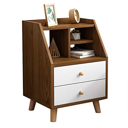HYXQYCTG nachtkastje nachtkastje met opberglade massief houten pootjes|Sofa Table Side End Table Bookcases Display Stand|Solid Wood Handle|Stabiele constructie|Eenvoudig te monteren|Woonkamer, Slaapkamer A+