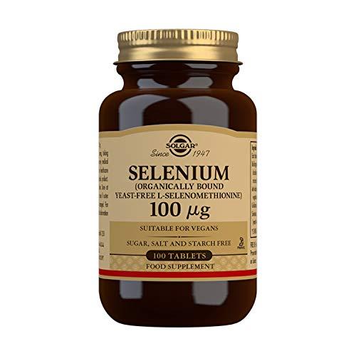 Selenio (Sin Levadura) 100 comprimidos de 100 mcg de Solgar
