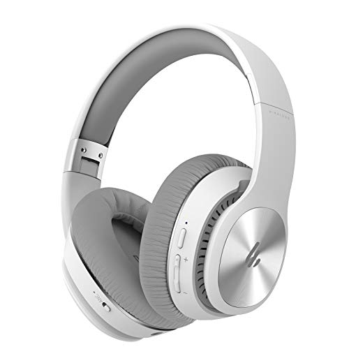 Edifier W828NB Wireless Bluetooth Headphones - Ergonomic, Active Noise Canceling (ANC) - White