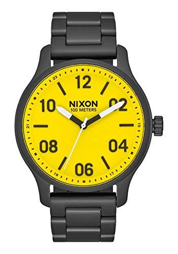 Nixon Reloj Analógico para Hombre de maquinaria Japonesa de Cuarzo con Correa en Acero Inoxidable A1242-3132-00