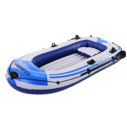 IUHI Inflatable Boat Kayak 3 Person Thickened Canoe Inflatable raft Rubber Boats Folding PVC Kayak for Adults Fishing Coast Outdoor...