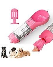 Yizemay Botellas para Perros Portatil, Botella Agua Perro con Pala Colectora de Caca Bolsa de Recolección de Basura para Perros Grandes, Medianos y Pequeños al Aire Libre