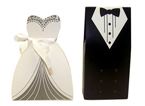 """""""Bride and recortadora"""" conjunto de 2 regalo de boda regalo de boda favorecer novia y novio cajas caja manualidades"""