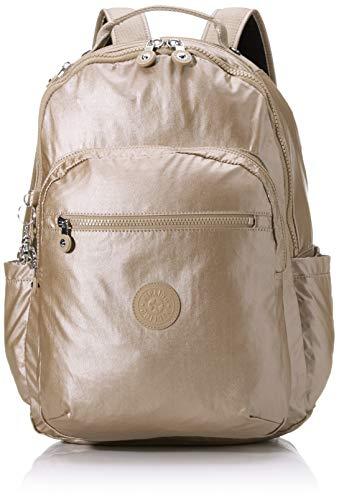 Kipling SEOUL Mochila tipo casual, 44 cm, 27 litros, Plateado (Metallic Glow) (Luggage)