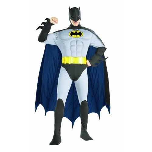 Rubie' s Ufficiale Batman Deluxe con Petto muscoloso, Costume da Adulto–Medium
