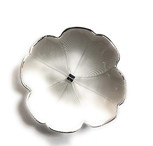 ARGENESI® Quadrifoglio Rigato Glasschale, 22 cm, perlweiß, Einheitsgröße