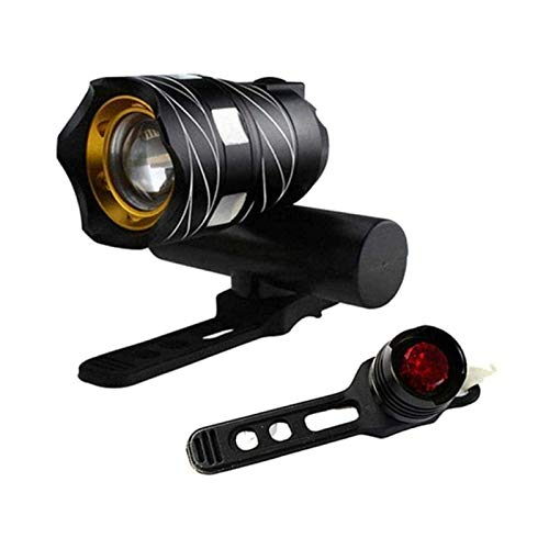 XTZJ Luces de bicicleta LED Conjunto de LED - Las mejores y brillantes luces delanteras y traseras impermeables - Sgrad & Rugged - Mount W / Out Tools - Road, Racing & Mounding Bikes - Baterías inclui