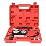 Detector de fugas comunes del cilindro, kit de probador de compresión Anillos de pistón de fugas de fugas de cilindro de goma y metal