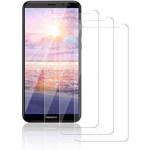 NASFUEY 3 Piezas Cristal Templado para Huawei Mate 10 Lite, 9H Dureza Antihuellas Dactilares Sin Burbujas, Alta Sensibilidad y Definición,Protector de Pantalla para Huawei Mate 10 Lite