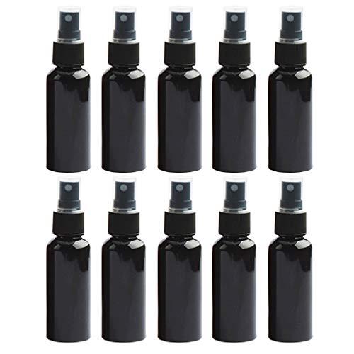 10 Stück Blau klare Plastiksprühflaschen 30ml, Sprühflasche Klein für Ätherisches Öl, Aromatherapie Gemische, Parfüm, Massage, Chemische Flüssigkeit, Apotheker (Schwarz)