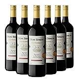 DON SIMON Vino Tinto Tempranillo - 6 Botellas de 1L Cristal Ecológico
