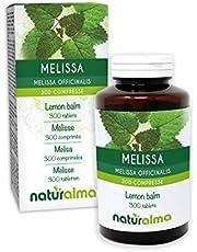 Citroenmelisse (Melissa officinalis) bladeren NATURALMA | 150 g | 300 tabletten van 500 mg | Voedingssupplement | Natuurlijk en Veganistisch