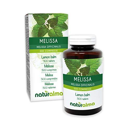 Melissa (Melissa officinalis) foglie NATURALMA   150 g   300 compresse da 500 mg   Integratore alimentare   Naturale e Vegano