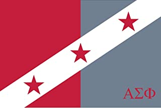Greek Star Alpha Sigma Phi Official 3' X 5' Flag - Officially Approved