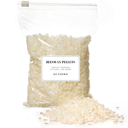 White Beeswax Pellets for Candle Making – Bulk 5 LBS – 100% Natural, Cosmetic Grade Bees Wax, Easy Melt Beeswax Pastilles for DIY Candles, Skin Care, Lip Balm, Lotions & More, Beeswax Bulk Size (5 LB)