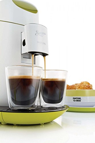 Philips Senseo Twist - Cafetera monodosis, color verde y blanco ...