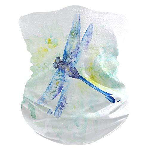Funnyy Spring Watercolour Dragonfly - Polainas para el cuello, bandana, pasamontañas, cubierta para el polvo, sin costuras, mágico, pañuelo para la cabeza, multifuncional, diadema para deportes al aire libre