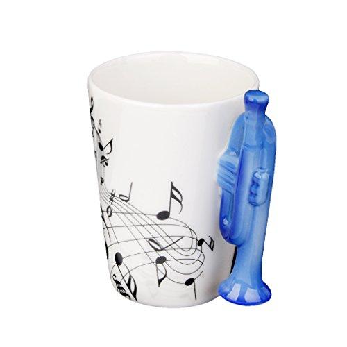 LOVIVER Instrument Emaille Becher Musikbecher Musik Tasse - Trompeten 2