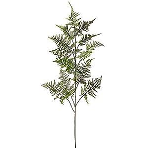 "Silk Flower Arrangements 48"" Silk Leather Fern Stem -2 Tone Green (Pack of 12)"
