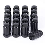M12x1.25 Spline Lug Nuts with Cone Seat, Blackened Wheel Accessories Compatible with Chevrolet Tracker Nissan Altima Rogue Subaru Crosstrek Toyota 86 & More, Set of 20