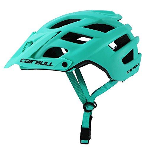 Cairbull Aerodinámica Casco de Bicicletta, Unisex Adulto, Ajustable 55-61 cm con Visera (Mint Green, Adultos(55-61cm))