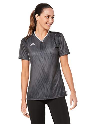 adidas Damen TIRO 19 JSY W T-Shirt, DGH solid Grey/White, M