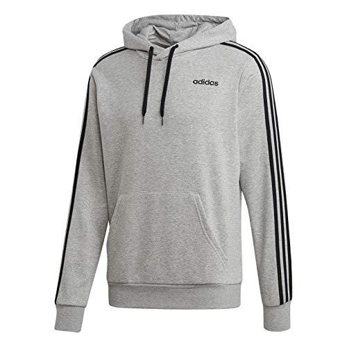 Adidas E 3S PO FT Sudadera, Hombre, Medium Grey Heather/Black, XL