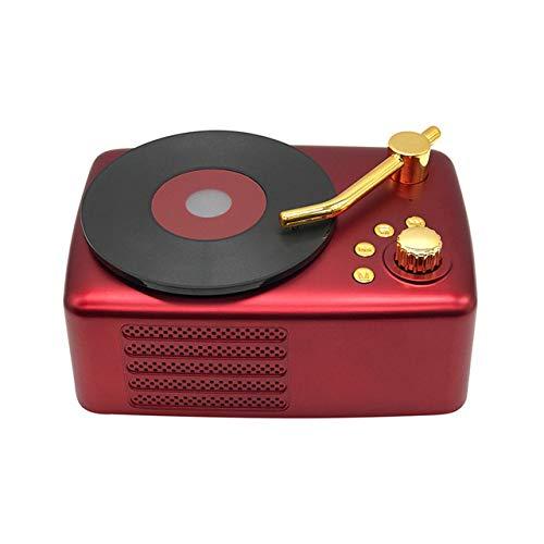 QWQ Lautsprecher, MP3-Beweglicher Im Freien High Fidelity Wireless Retro-Plattenspieler Amerikanischen Subwoofer-Lautsprecher FM Radio-TF,A
