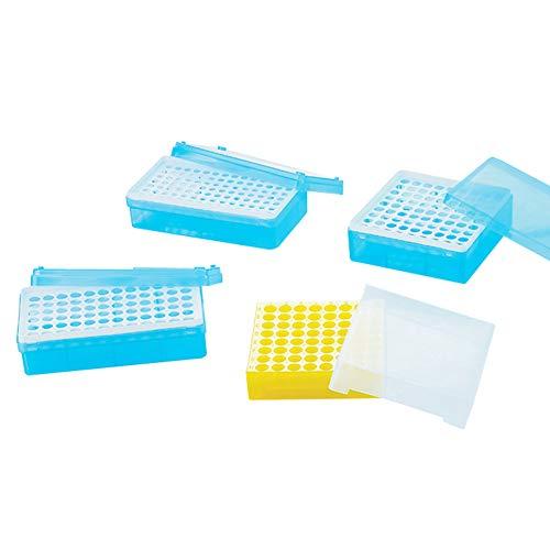 Tansoole - 72 Place Zentrifugenröhrchen Gefrierschrank Aufbewahrung Transluzentes Polypropylen 1,5 ml/2 ml Mikrozentrifugenröhrchen Ständer