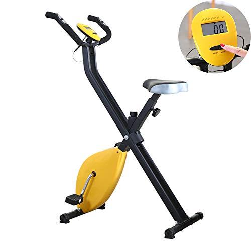 Bicicleta Estática Plegable Profesional Entrenamiento Fitness Quema De Grasa, 8 Niveles De Resistencia Magnetica, Monitor De Entrenamiento, MAX 120 Kg