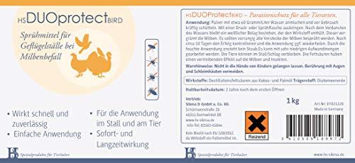 HS Duo Protect Bird 1kg- Sprühmittel für Geflügelställe bei Milbenbefall