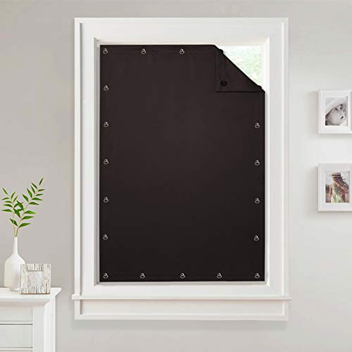 StangH Temporary Curtains for Window - Anywhere Portable Travel Curtains Blackout Privacy Panel Drapery with Suckers for Room Darkening, Brown, Wide 51 by Long 78 Inch, 1 Panel