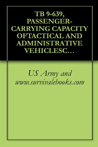 TB 9-639, PASSENGER-CARRYING CAPACITY OFTACTICAL AND ADMINISTRATIVE VEHICLESCOMMONLY USED TO TRANSPORTPERSONNEL (English Edition)