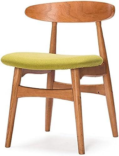Wooden stool Esszimmerstühle, Massivholz-Rückenstühle, Büro-Schreibtische und Stühle, Einfache Moderne Couchtische und Stühle, Nordische Retro-Stühle (Farbe   Grün)