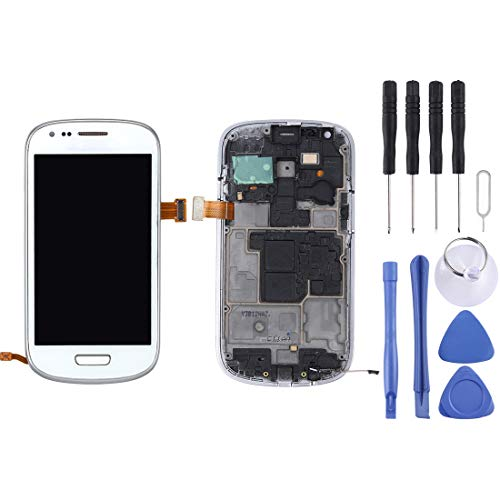 CAPOOK -LCD Display + Touch Panel with Frame for Galaxy SIII Mini / i8190(White) DIY (Color : White)