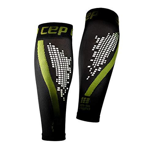 CEP - NIGHTTECH Calf Sleeve 2.0 für Herren | Reflektierende Beinstulpen in grün | Größe III