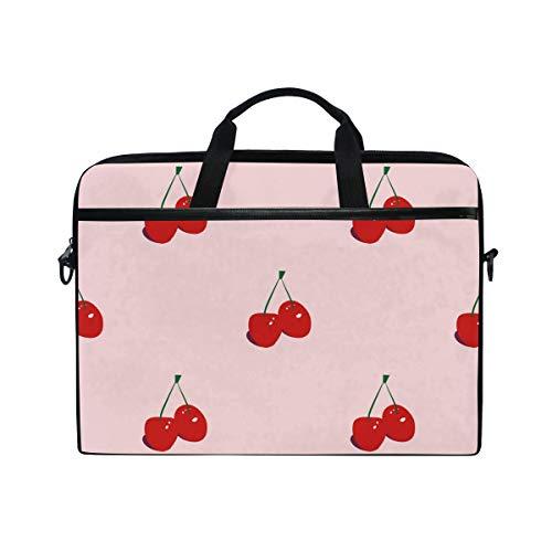 DOSHINE Laptop Bag Case Sleeve Fruit Cherry Pattern Print Notebook Computer Bag for 14-14.5 inch Adjustable Shoulder Strap, Back to School Gifts for Men Women Boy Girls