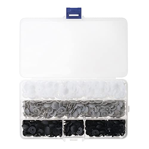 450 tornillos para tapas de tapones de 12 mm, impermeables, antipolvo, decorativos, color blanco, negro y gris