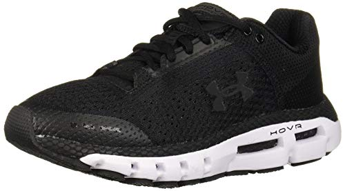 Under Armour Women's HOVR Infinite Running Shoe, Black (002)/White, 8.5