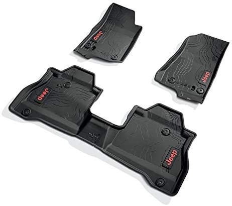 Jeep 2020 Gladiator New product All Weather Floor Mats Mop Lettering OEM latest Red