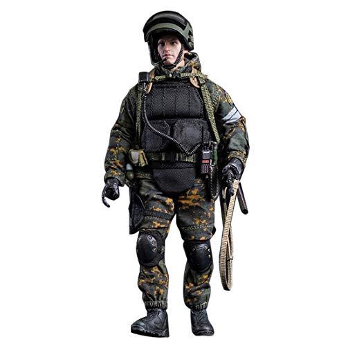 Mecotecn 1/12 Figuras Soldados, Soldado de Juguete con Arma, Figuras Militares Conjuntos de Juegos - Fuerzas Especiales Rusas Alfa LW007