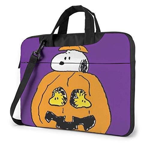 Snoopy Halloween Laptop Bag 14 15 15.6 Inch Briefcase Shoulder Messenger Bag Water Repellent Laptop Bag Satchel Tablet Bussiness Carrying Handbag for Women and Men15.6 inch