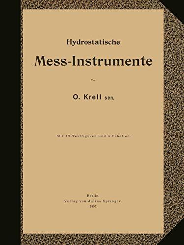 Hydrostatische Mess-Instrumente