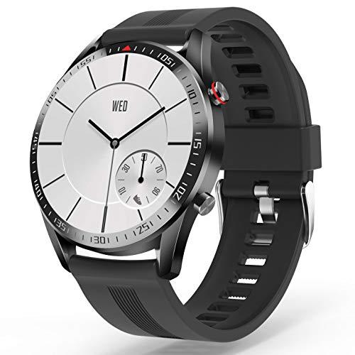 YoYoFit Smartwatch,1.3 Zoll Touch Farbdisplay Fitness Armbanduhr mit Pulsuhr Blutdruck, SMS-Erinnerung,Wasserdicht Schrittzähler Fitness Tracker Sportuhr, Schlafmonitor 23 Sportmodi für iOS Android