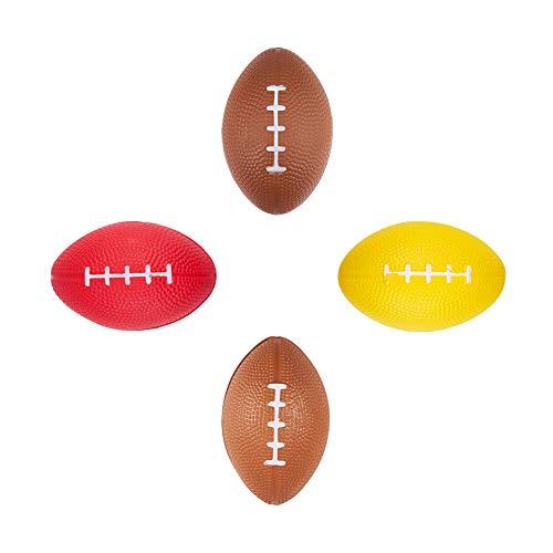 WANDIC Mini-Fußbälle, 4 Stück, amerikanische Fußballbälle, Mini-Sportbälle, Schaumstoff-Fußbälle für Kinder und Erwachsene
