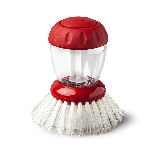 Zeal Dispensing Dish Brush, Red, One Size