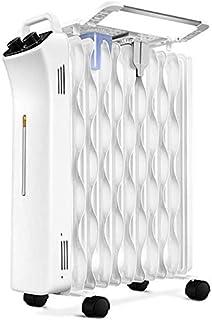 alvyu Radiador de Aceite,radiator2000W eficiente de la energía/termostato Inteligente, Dumping Apagado protección/sobrecalentamiento y 3 de Nivel de cocción, con Tendedero