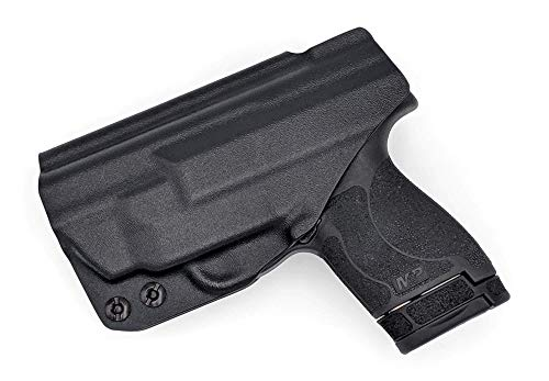 Concealment Express KYDEX Holster Compatible with Smith & Wesson M&P Shield M2.0 9MM / 40SW w/Integrated Crimson Trace Laser IWB KYDEX Holster Black/Right Hand/User Adjustable (-5 to +20°)